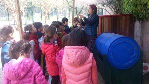 Çocuklarla kompost yaparken